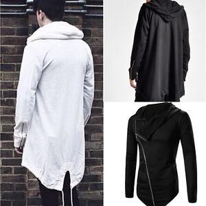 0e8557d60c Image is loading Fashion-MEN-Long-Hooded-Sweater-Cardigan-Cape-Cloak-
