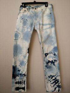 dye rechte jeans tie 30 ins levi's Strauss Zeldzame 513 W 32 Levi slanke 8nwkNX0OP