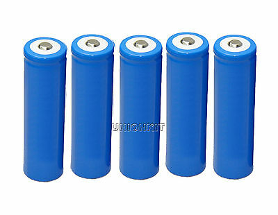 new 5pcs 18650 LED Flashlights Rechargeable Torch Battery Li-ion sport batteries