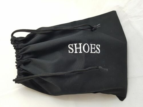 Cotton Shoe Storage Travel Luggage Bag Embroidered with Drawstring for Hotel Gym
