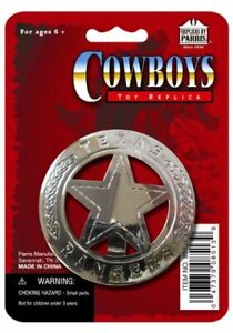 Texas-Ranger-Badge-Toy-Replica-New-Free-Shipping-Parris-Manufacturing