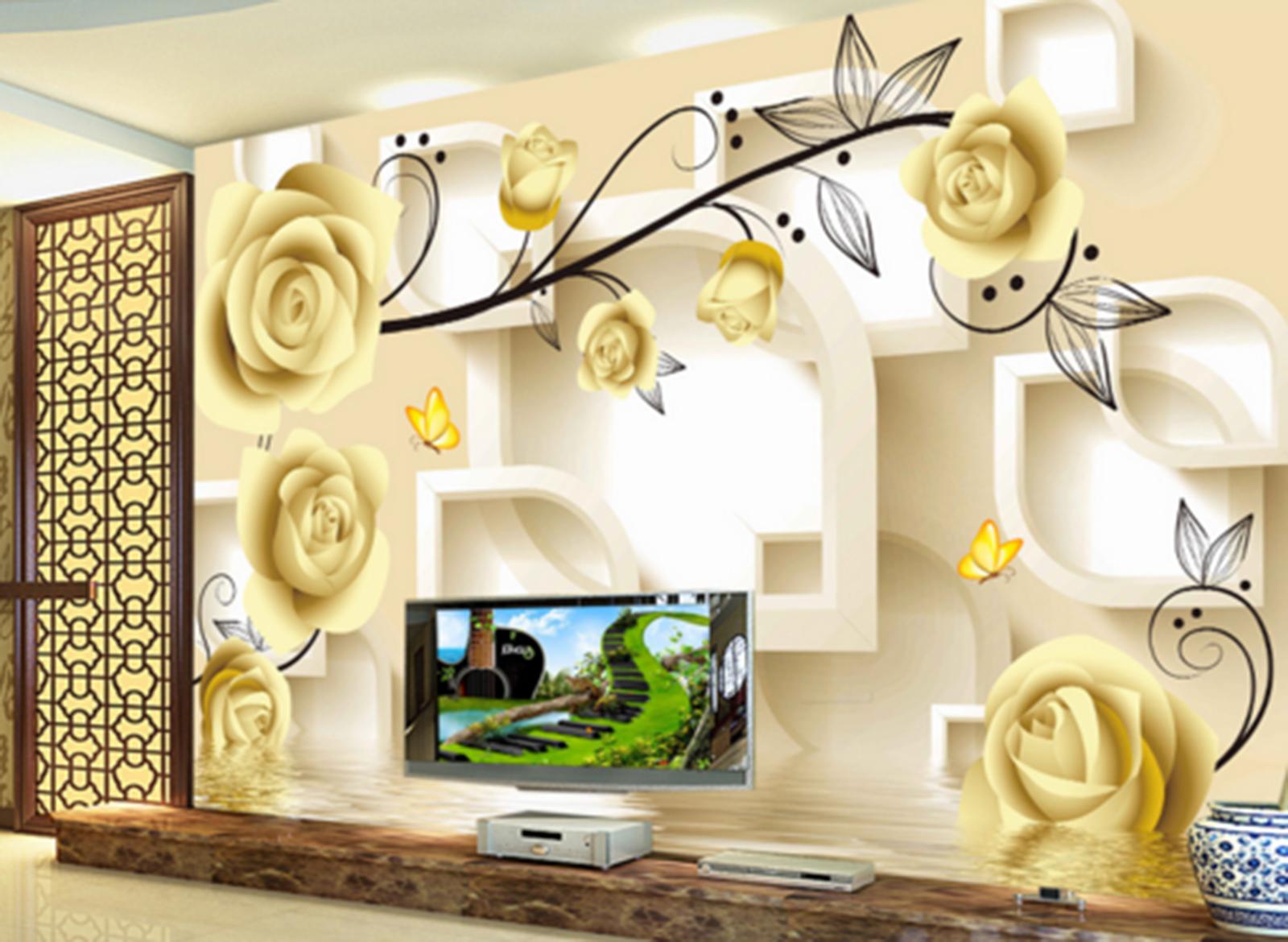 3D Golden Flowers Bud Squid Wall Paper Wall Print Print Print Decal Wall AJ WALLPAPER CA c56120