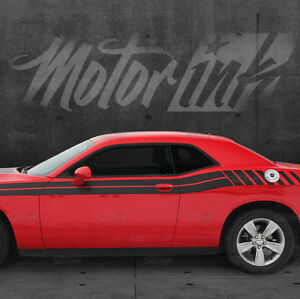 2015 2016 Dodge Challenger Side Strobe Rear Stripes Decals