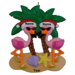 MAXORA-Flamingo-Vacation-Couple-Personalized-Ornament-Holiday-amp-Seasonal-Decor