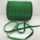 "New 5 yards 3/8""10mm green Sparkle Glitter Velvet Ribbon Headband Craft supplies"
