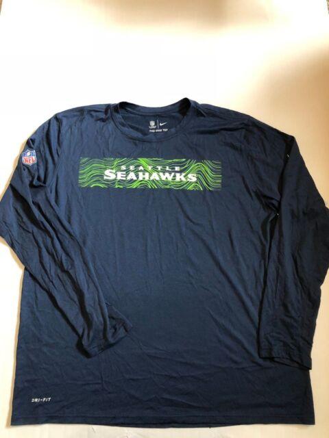 bf6720b93 Seattle Seahawks Mens Nike Sideline Seismic DRI-FIT Long Sleeve Shirt NWT  XXL