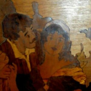Antique-hand-made-marquetry-picture-or-panel
