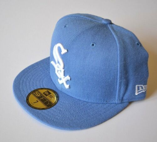 Chicago White Sox New Era Mens Baseball Cap Sz 7 Hat 59 FIFTY Light Blue Wool