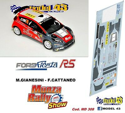 DECAL  1//43 Rally MONZA 2017 FORD FIESTA R5 ORSIGNOLA