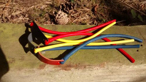 Hirdhawks TheraBand Catapulte Fronde Tube bandsets Pochette en cuir Kit de montage