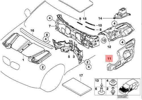 Genuine BMW E53 SUV Sound Insulating Door Right Front OEM 51488402390