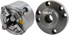 Shars 4 4 Jaw Independent Chuck Solid Hard Jaws With 1 10 Tpi 393 Fully Machi