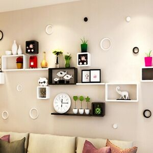 Set-Of-6-Floating-Wall-Mounted-Shelves-Display-Storage-Shelf-Home-Decoration-New