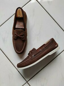 Sperry-Topsider-Boat-Deck-Oxford-Shoes-Brown-Leather-2-Eye-Slip-On-Size-10-5M
