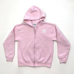 the best attitude 29241 ca04b Details about New York Yankees Gildan Youth size M Pink Zip Front Hoodie  Sweatshirt