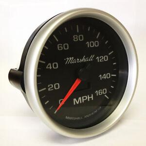 C2-5-034-In-Dash-Electronic-Speedometer-0-160-MPH-2054-Silver-Aluminum-Bezel