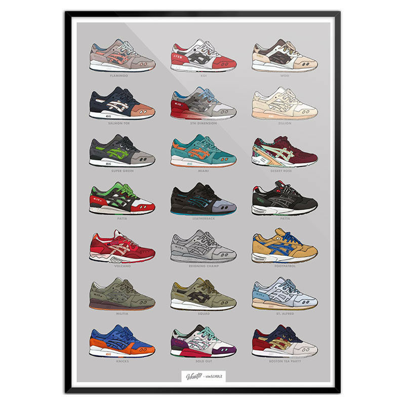 Asics Gel Lyte III Flamingo, - Poster, Ronnie Fieg,Miami, Flamingo, III Footpatrol, Parra, Koi 45eea2