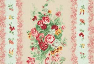 25-034-Remnant-Cottage-Shabby-Chic-Mary-Rose-Floral-Repeating-Stripe-Julia-MR2180Y