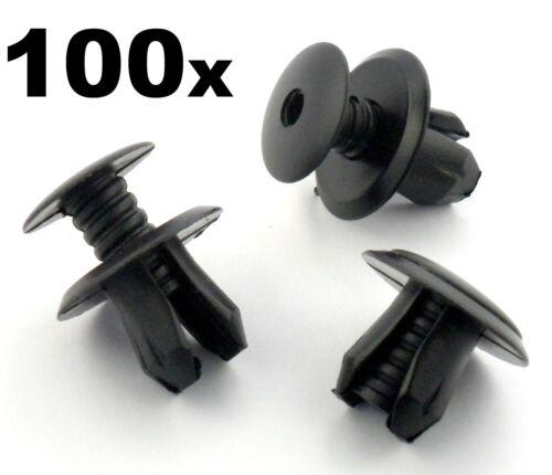 100x For VW Volkswagen T4 T5 Transporter Eurovan Black Trim Panel Lining Clips