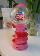 Dubble Bubble Toy Kids Mini Gumball Spiral Plastic Dispenser With Coin Slot