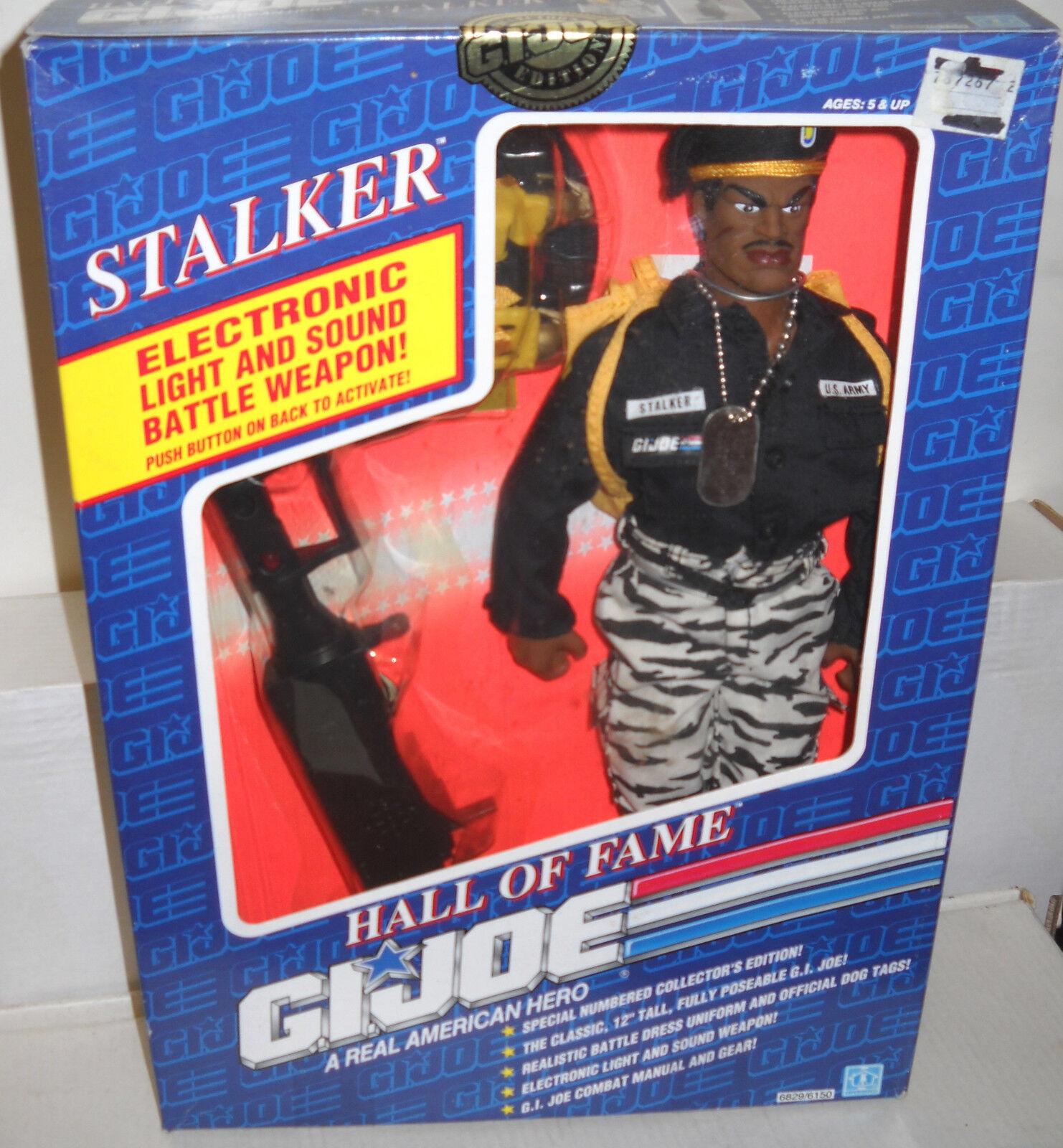 7948 nrfb hasbro gi joe hall of fame  stalker afro - amerikaner.
