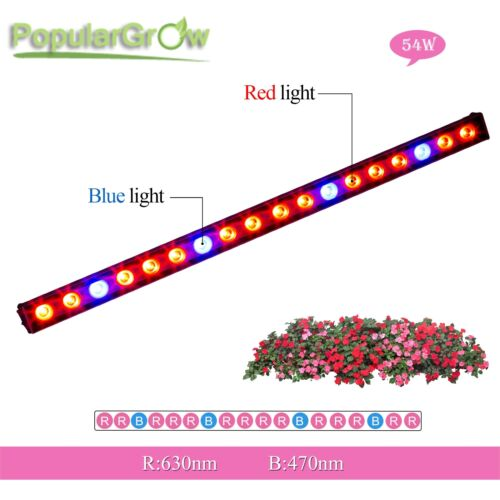 54w Wasserdicht Red Blue Led Grow Strip Bar für Indoor Garden Blume PflanzeLicht