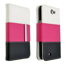 Foxlux Tri-Color Wallet PU Leather Card Case Folio Cover for GALAXY Note 2 N7100