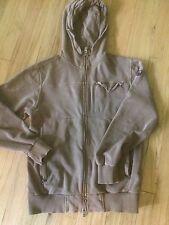 """Etnies """"Victor"""" Classic Brown Hoodie Zip Up RN # 95182 Mens Medium"""