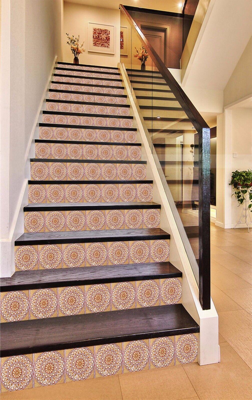 3D Muster 50 Stair Risers Dekoration Fototapete Vinyl Aufkleber Tapete DE Lemon