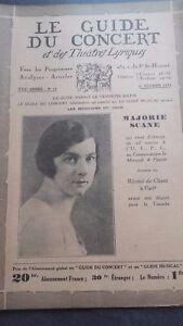 Revista Le Guía de La Concierto Y Las Sketches Letra 1931 No 18 Majorie Analizar
