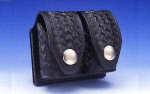 HKS Dupont Hytrel Double Speedloader Case Plain or Basketweave Medium or Large