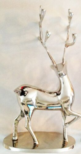 """Details about  /Silvertone 9X16/"""" Metal Male Buck Deer Figurine with Head Up"""