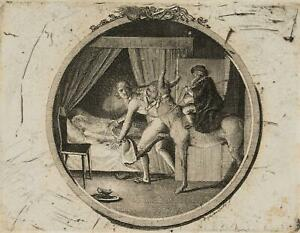 """Chodowiecki (1726-1801). illustrazione """"BIRRA ASINO. un popolo sassone fiaba"""""""