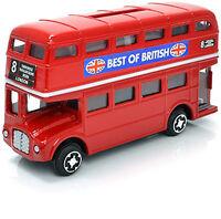 New Boxed Die Cast Red Bus Money Bank Box  Piggy Bank 11.5 x 6.5 x 3.5cm