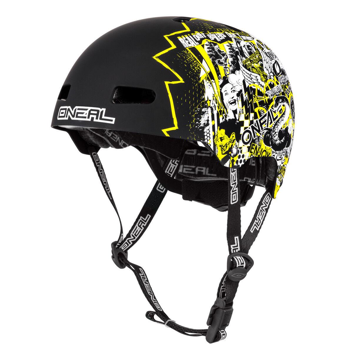 O'neal Lid ZF Rift Dirt   BMX Fahrrad Helm black white yellow 2019 Oneal