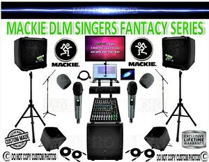 MACKIE DLM PROFESSIONAL SINGER KARAOKE SYSTEM DJ, BAND, PA, PRO AUDIO CUSTOM