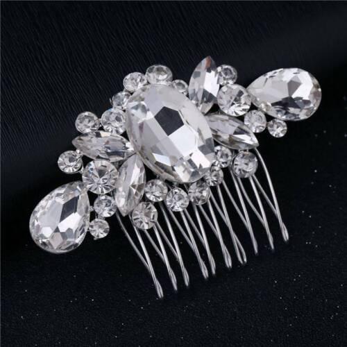 Hair Clips Crystal Diamante Pearls Comb Flower Wedding Bridal Hair Pins White
