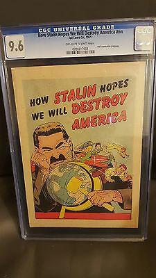 How Stalin Hopes We Will Destroy America #nn CGC 9.6 (1951)