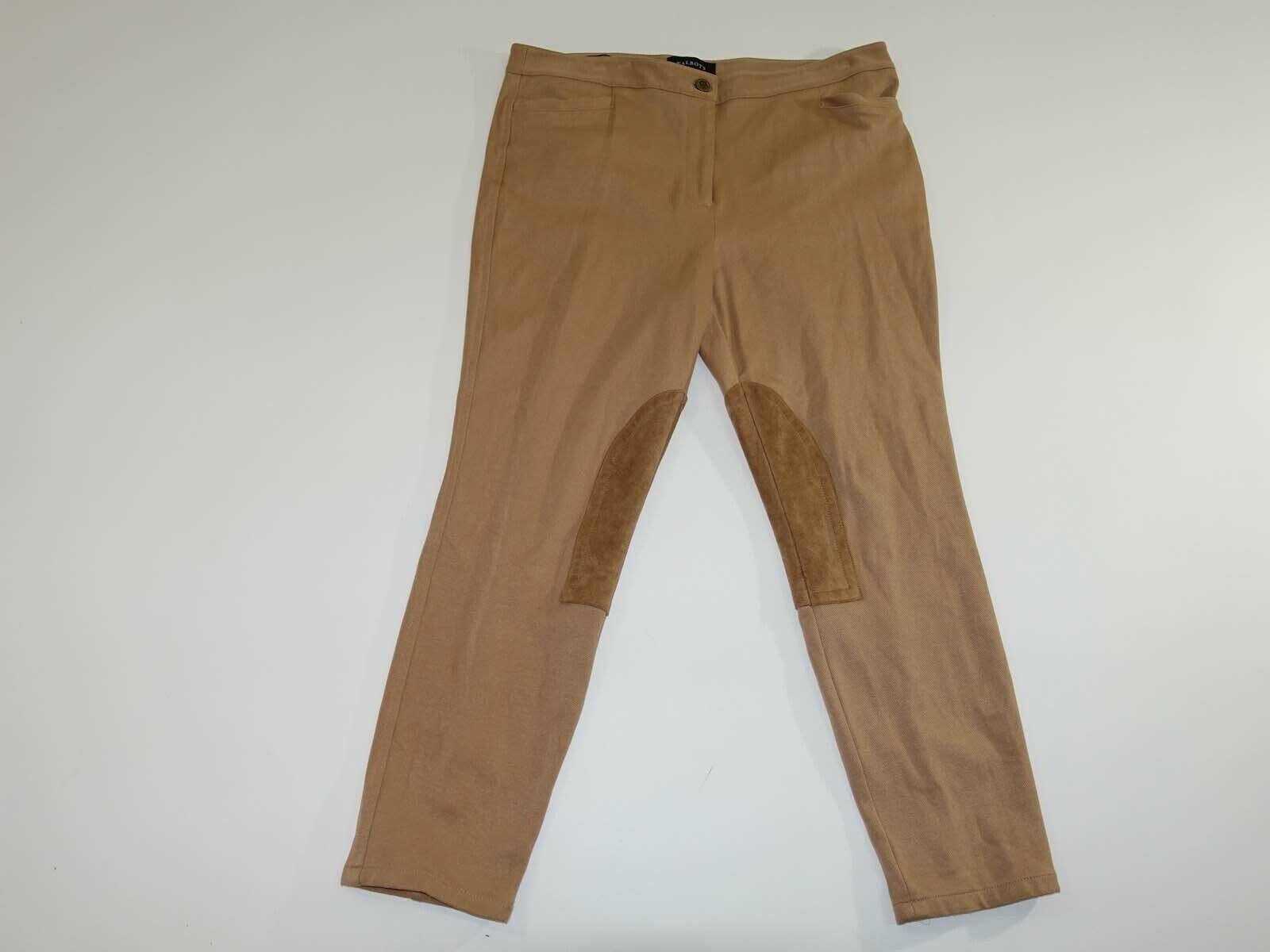 Talbots Damen Judhpur Skinny Knöchel Hosen Größe 14 Petite Beige Flach Vorne 14P