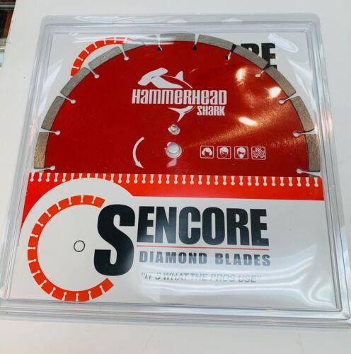 "Sencore Hammerhead Shark Diamond Blade 14/"" NEW"