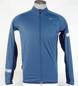 Adaptable Nike Dri Fit Wind & Water Resistant Blue Zip Front Running Jacket Mens Nwt Sturdy Construction Clothing, Shoes & Accessories Activewear Jackets