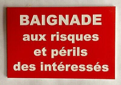 """panneau /""""DÉFENSE D/'ENTRER DANGER DE MORT...RISQUES ET PERILS/"""" ROUGE signalétique"""