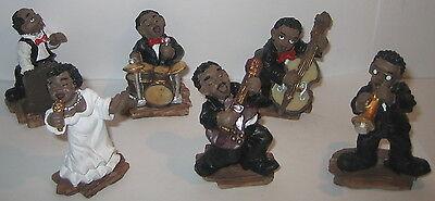 6 Teilig Kunststein 60 Miniatur Figuren 10 New Orleans Jazz Band Figuren Set´s