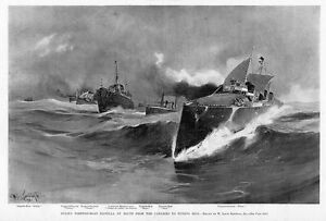 Image Is Loading Spain 039 S Torpedo Boat Flotilla En Route