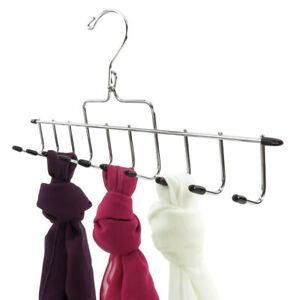 Hangerworld-Chrome-Metal-14-034-Non-Slip-Accessory-Hanger-Tie-Scarf-Belt-Closet