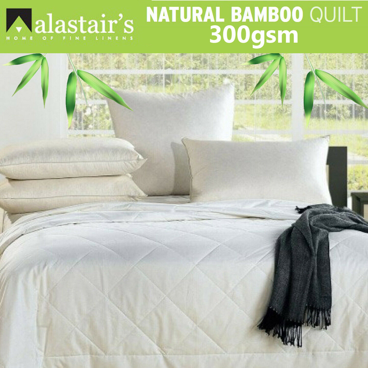 Alastair's Bamboo Quilt Will Duvet 300gsm   Eco Friendly   Chemical Free