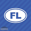 Florida FL Oval Vinyl Decal Sticker