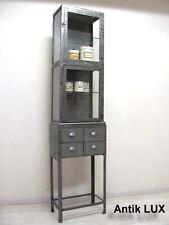 Arztvitrine-Metallvitrine im Industrie-Design Vitrine Fabrik Möbel Antik-Lux