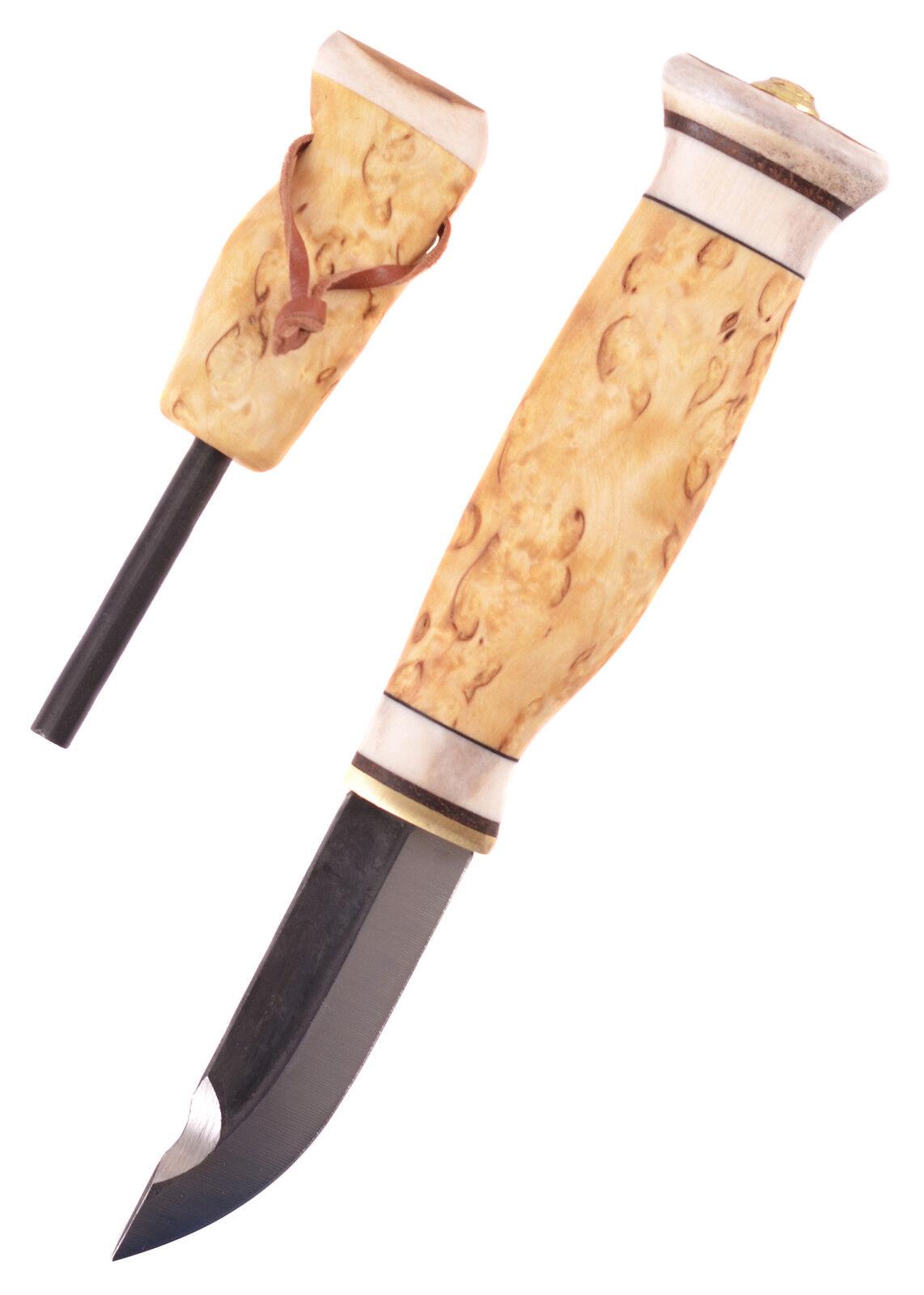 Jätkänpuukko mit Feuerstahl, Wood-Jewel - Finnenmesser - Sami Messer Jagdmesser