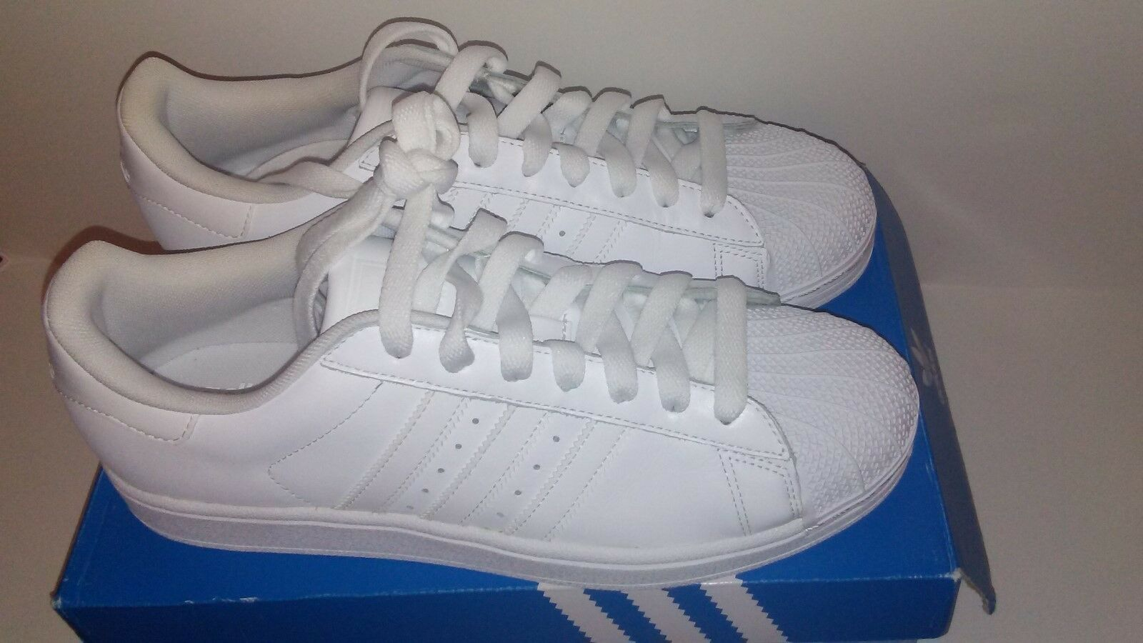 Adidas Adidas Adidas superstar ii bianco Uomo shelltoes scarpe 10 4fc4c1